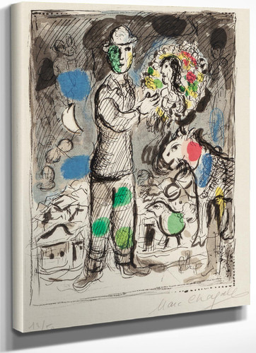Paysan Au Bouquet 1968 by Marc Chagall