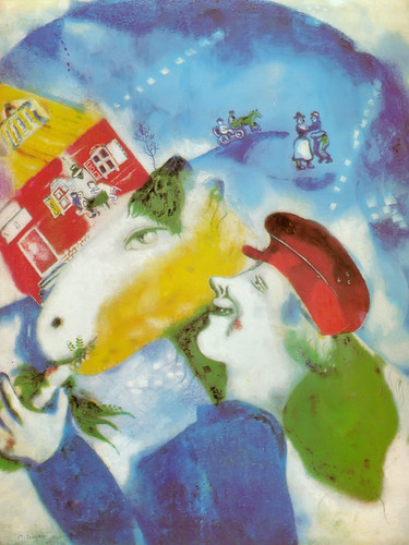Peasant Life by Marc Chagall Print