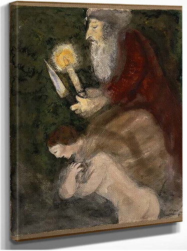 Abraham And Isaac On The Way To The Place Of Sacrifice By Marc Chagall
