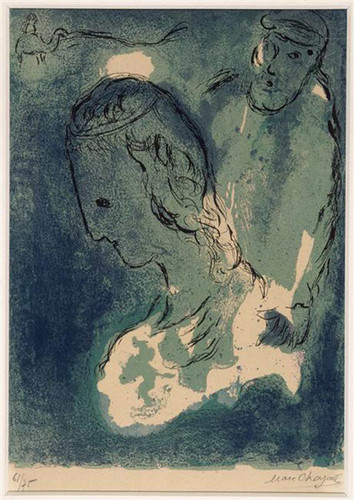 Abraham And Sarah 1956 By Marc Chagall Art Reproduction from Wanford