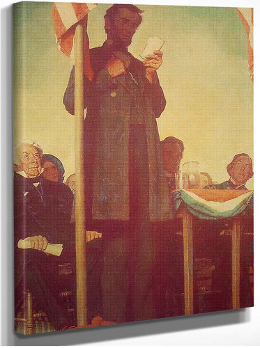 Abraham Delivering The Gettysburg Address 1942 By Norman Rockwell
