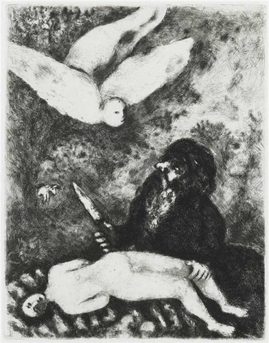Abraham Is Going To Sacrifice His Son According To The Order Of God Genesis Xxii 9 14 By Marc Chagall Art Reproduction from Wanford