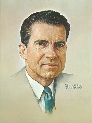 Portrait Of Nixon by Norman Rockwell Print