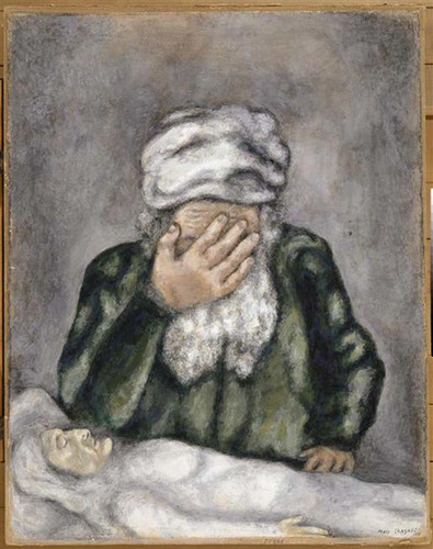 Abraham Weeping For Sarah 1931 By Marc Chagall Art Reproduction from Wanford