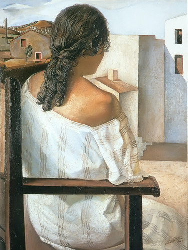 Seated Girl From The Back by Dali Print
