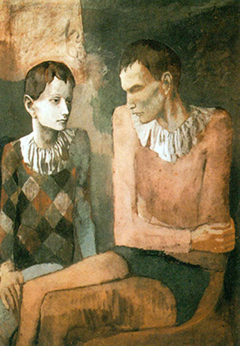 Acrobat And Young Harlequin1 By Pablo Picasso Art Reproduction from Wanford