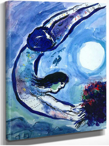 Acrobat With Bouquet 1963 By Marc Chagall