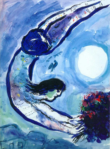 Acrobat With Bouquet 1963 By Marc Chagall Art Reproduction from Wanford