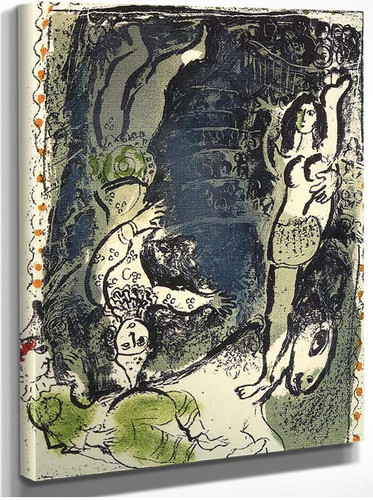 Acrobates 1961 By Marc Chagall