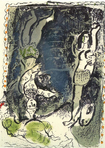Acrobates 1961 By Marc Chagall Art Reproduction from Wanford