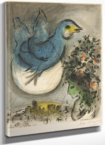 The Blue Bird Marc Chagall by Marc Chagall