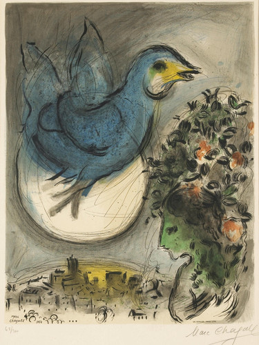 The Blue Bird Marc Chagall by Marc Chagall Print