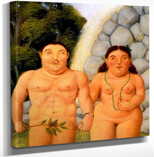 A Couple3 By Fernando Botero Art Reproduction from Wanford.