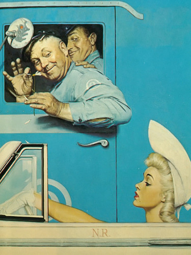The Flirts by Norman Rockwell Print