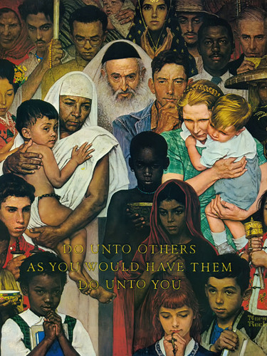 The Golden Rule by Norman Rockwell Print