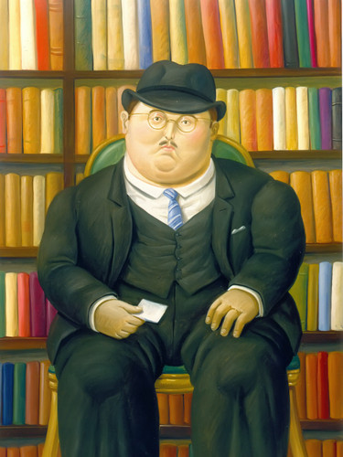 The Lawyer by Botero Print