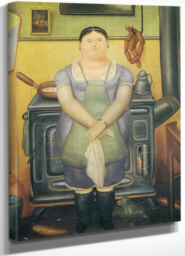 The Maid by Botero
