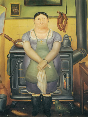 The Maid by Botero Print