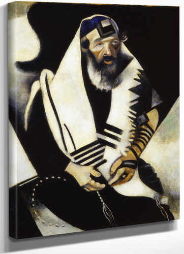 The Praying Jew By Marc Chagall by Marc Chagall