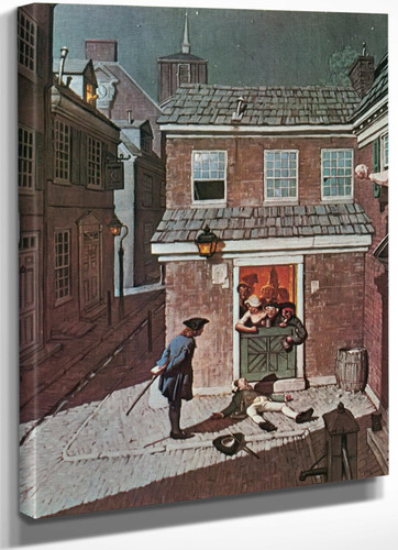 The Tavern by Norman Rockwell
