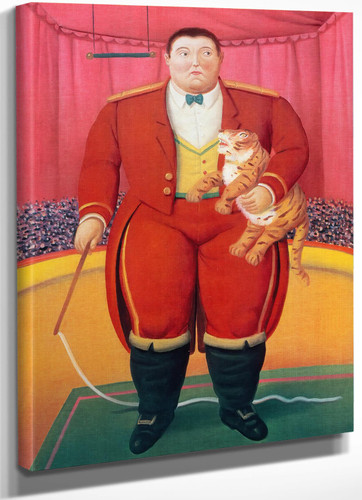 Trainer With A Baby Tiger by Botero