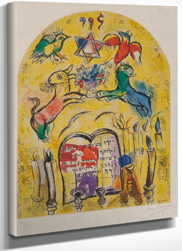 Tribe Of Levi Marc Chagall by Marc Chagall