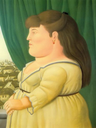 Woman At The Window by Botero Print