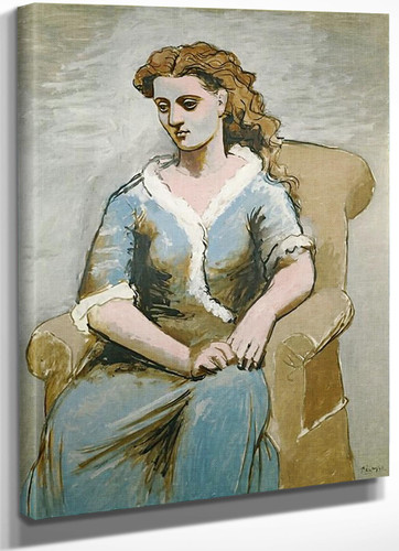 Woman Seated In An Armchair by Picasso