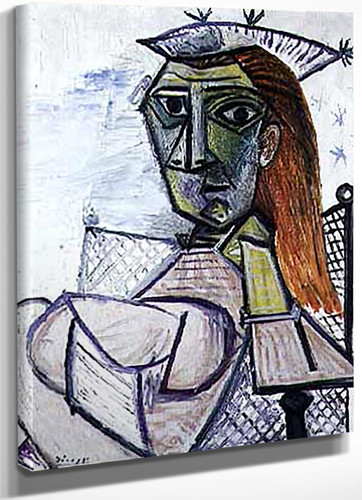 Woman Sitting In An Armchair 73x60 by Picasso