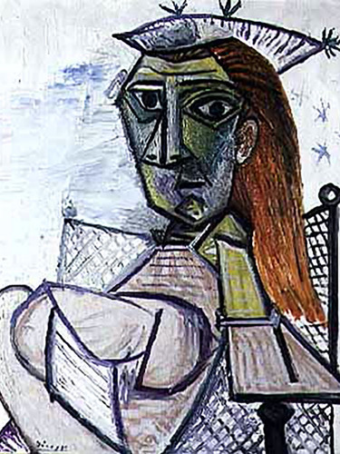Woman Sitting In An Armchair 73x60 by Picasso Print