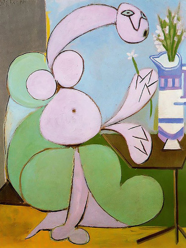 Woman With Bouquet 73x60 by Picasso Print