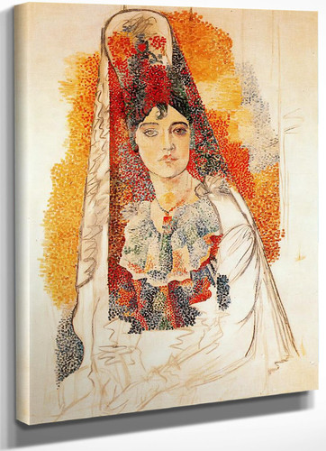 Woman With Spanish Dress by Picasso
