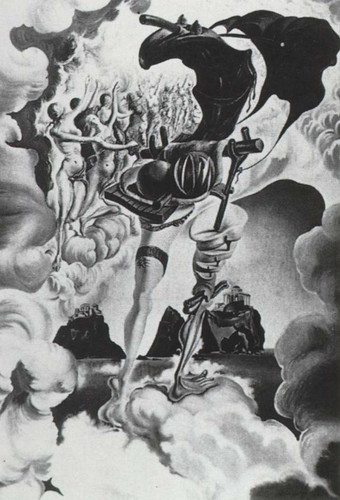 Allegory Of Sunset Air Allegory Of The Everning 1941 By Salvador Dali Art Reproduction from Wanford