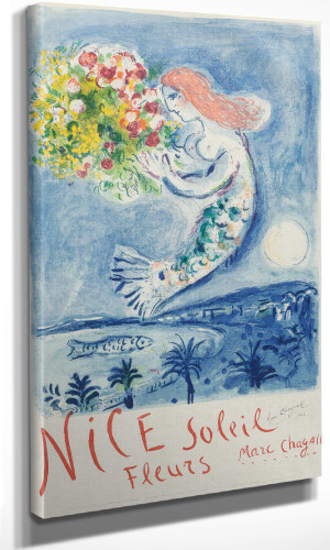 The Bay Of Angel Poster 1962 by Marc Chagall