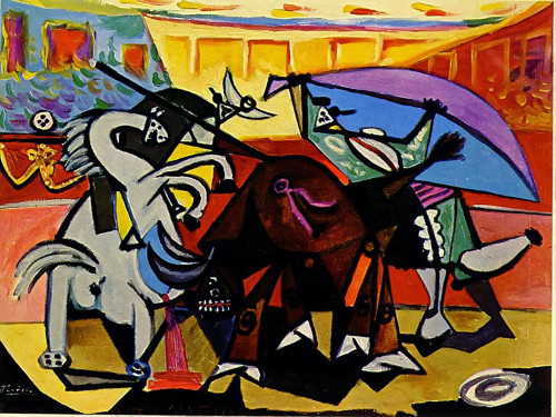 A Bullfight by Picasso Print