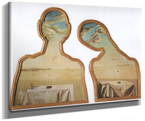 A Couple With Their Heads Full Of Clouds by Salvador Dali