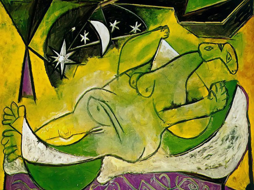 A Reclining Female Nude by Picasso Print