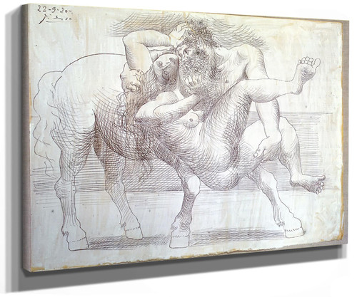 Abduction (Nessus And Deianeira) 21.3x27 by Picasso