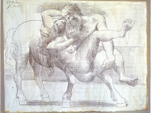 Abduction (Nessus And Deianeira) 21.3x27 by Picasso Print