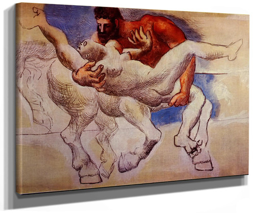 Abduction (Nessus And Deianeira) 21x27 by Picasso