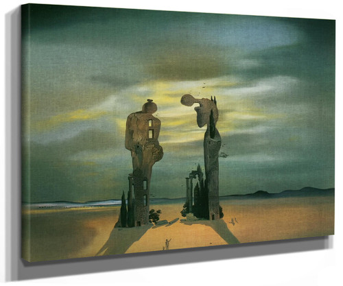 Archeological Reminiscence Of Millets Angelus by Dali