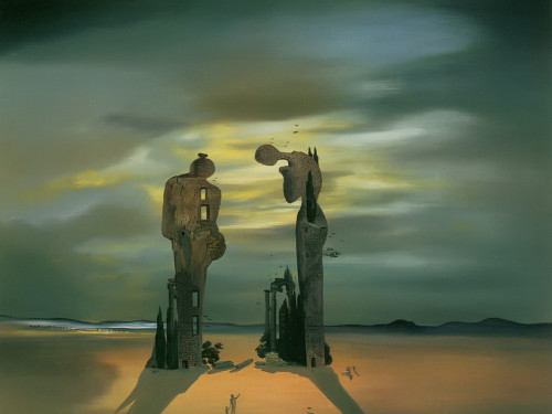 Archeological Reminiscence Of Millets Angelus by Dali Print