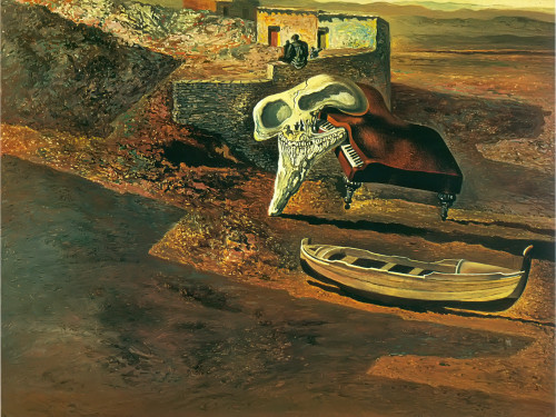 Atmospheric Skull Sodomizing A Grand Piano by Dali Print