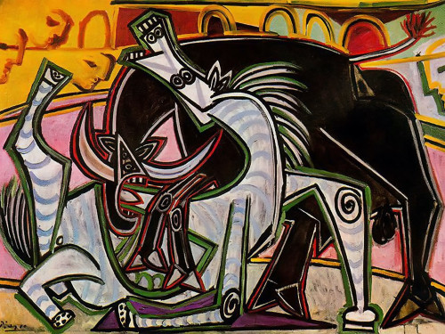 Bullfight by Picasso Print