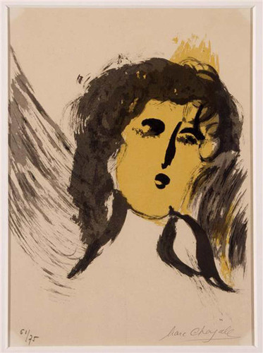 An Angel 1956 By Marc Chagall Art Reproduction from Wanford