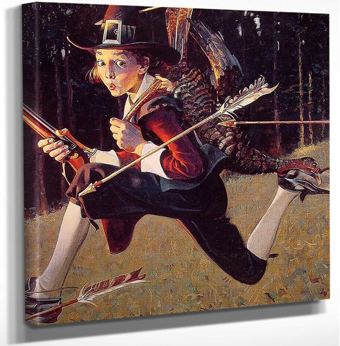 A Pilgrim S Progress 1921 By Norman Rockwell Art Reproduction from Wanford.
