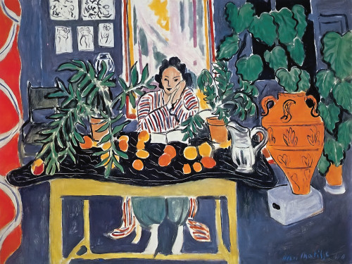 Interior With Etruscan Vase by Henri Matisse Print