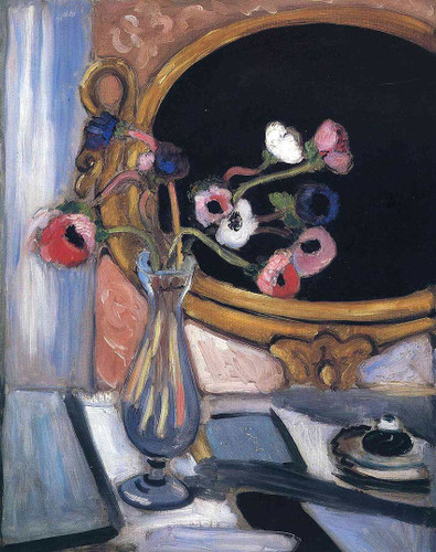 Anemone And Mirror 1920 By Henri Matisse Art Reproduction from Wanford