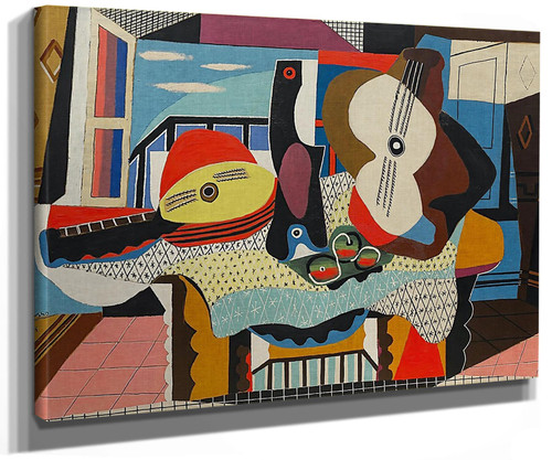 Mandolin And Guitar by Picasso