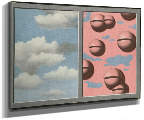 Pink Belles Tattered Skies by Rene Magritte